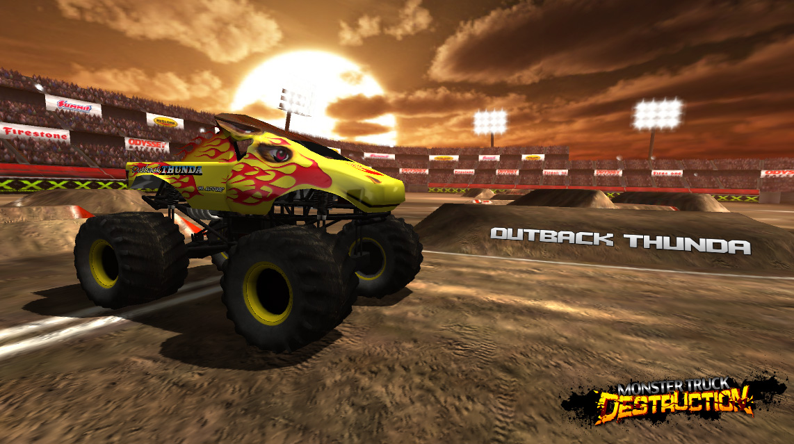 Monster Truck Destruction Game Featuring Outback Thunda